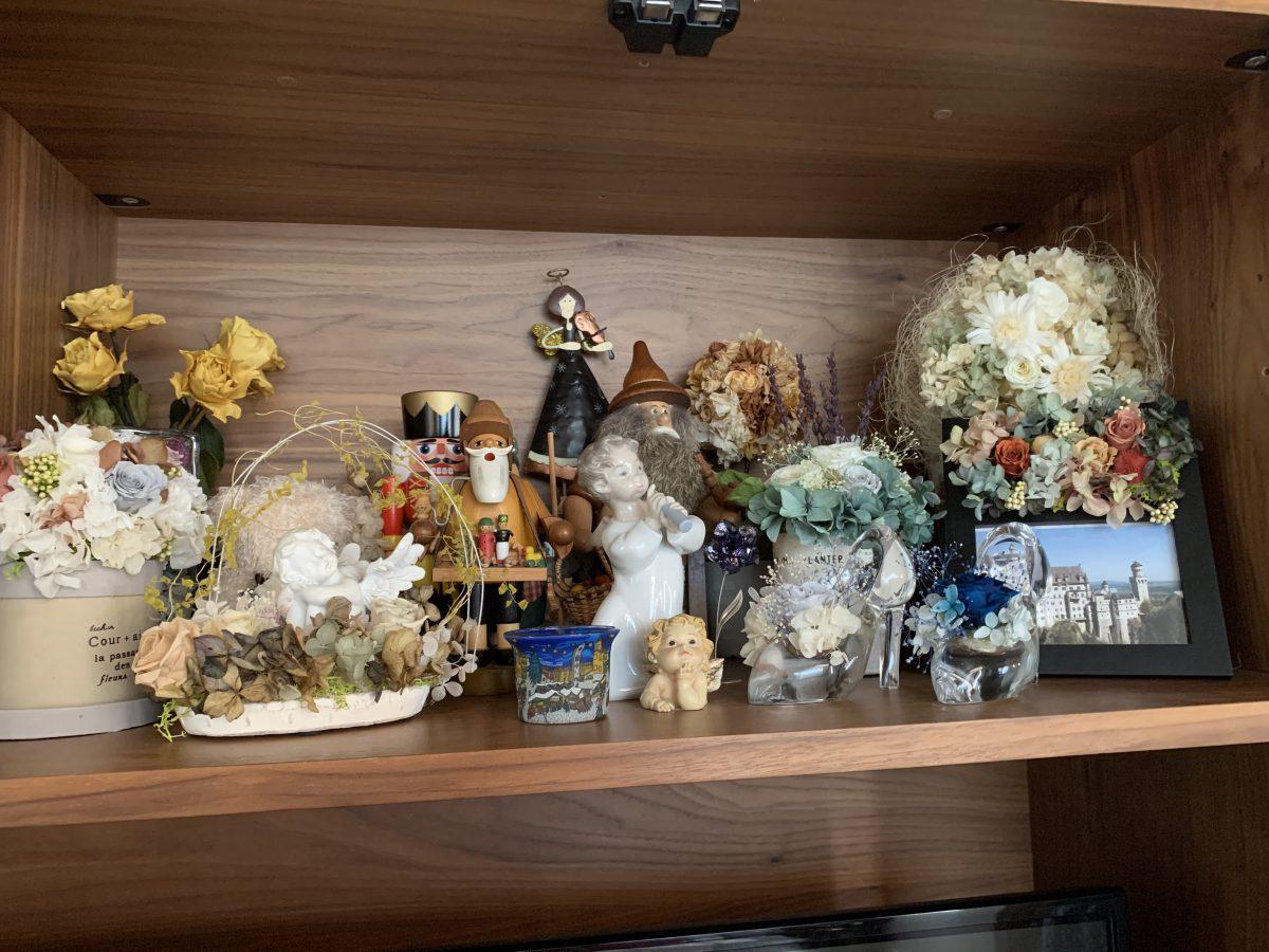 棚いっぱいのお花たち